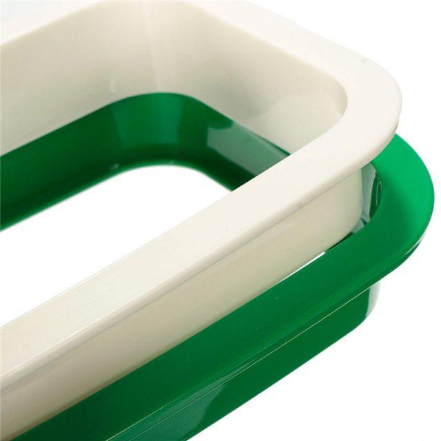 Green Kitchen Garbage Hanging Bag Holder