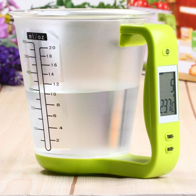 Handy Precise Eco-Friendly Plastic Electronic Kitchen Scales