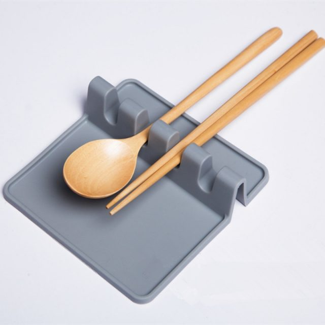 Heat Resistant Silicone Flatware and Spatula Holder