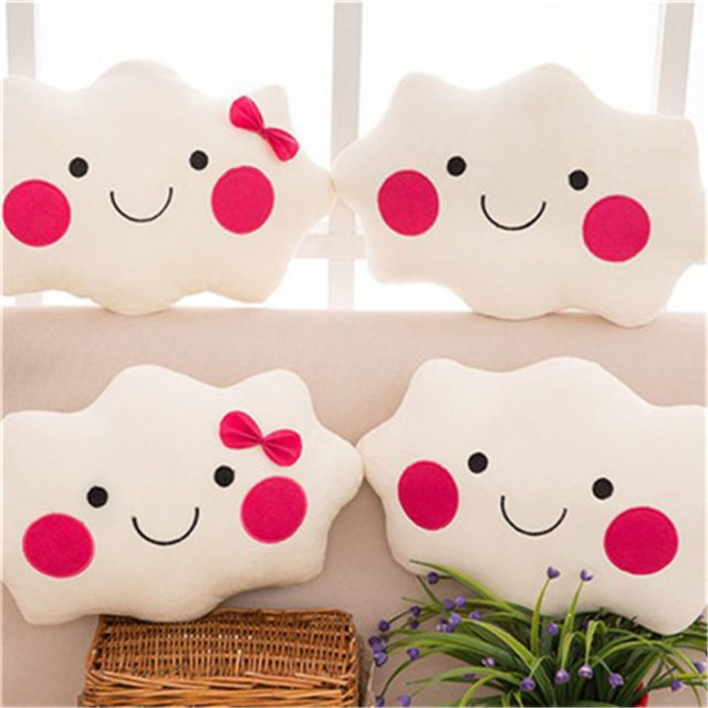 Cute Face Shaped Decorative Pillows For Kid's Room
