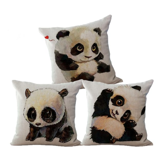 Cushion Panda Printed Pillow