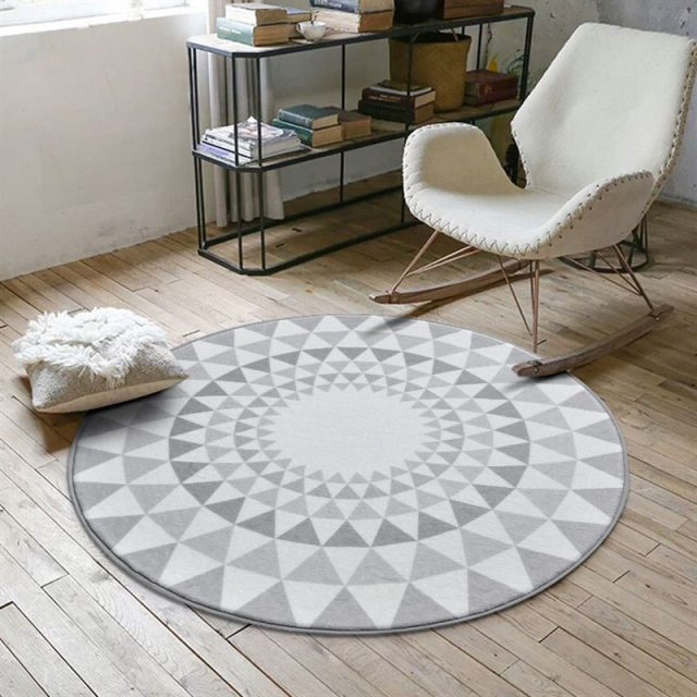 Minimalist Nordic Style Round Rug