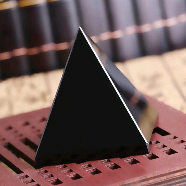 Feng Shui Natural Obsidian Pyramid