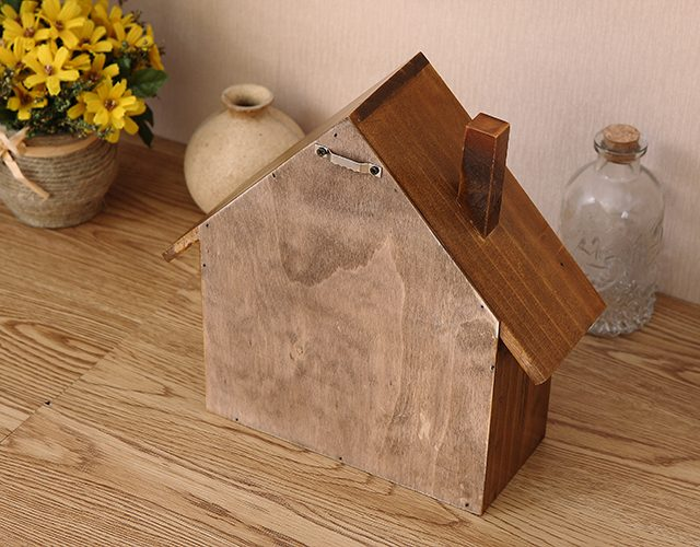 Rustic Style Little House Wooden Storage Rack