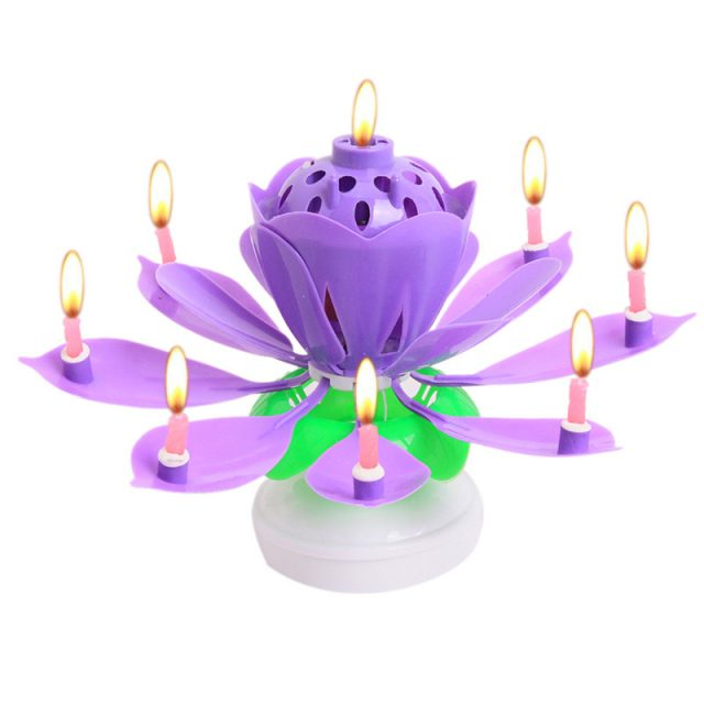 Folding Lotus Flower Birthday Candle