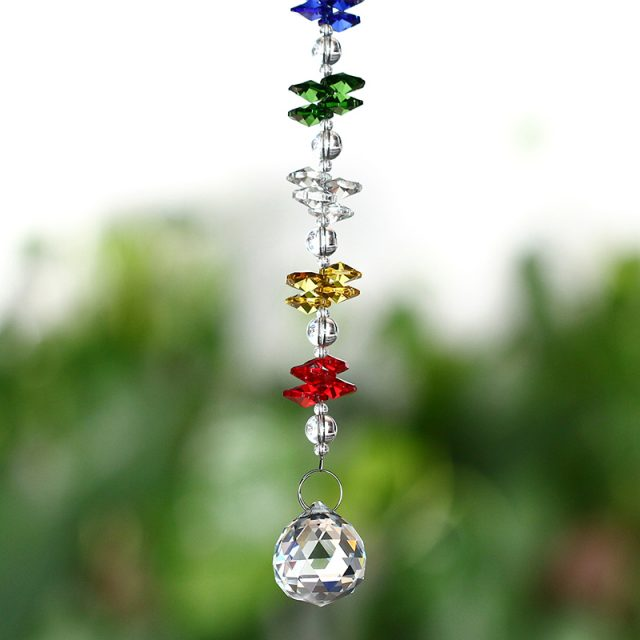 Feng Shui Colorful Crystal Suncatcher