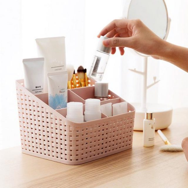 Rotating Plastic Makeup Organizers