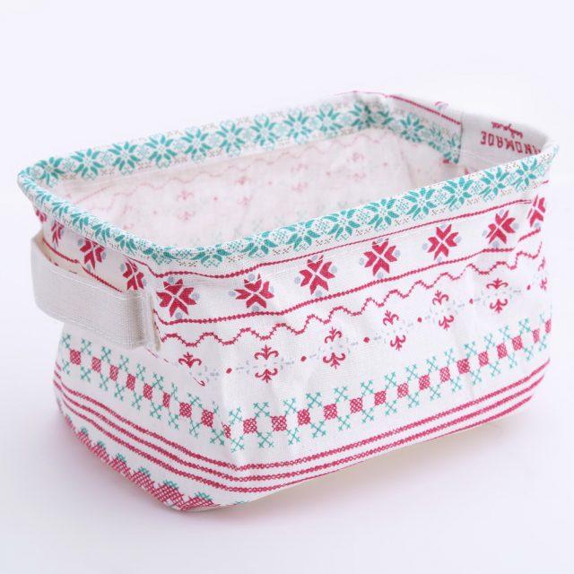 Nordic Style Cute Animal Printed Linen Storage Box
