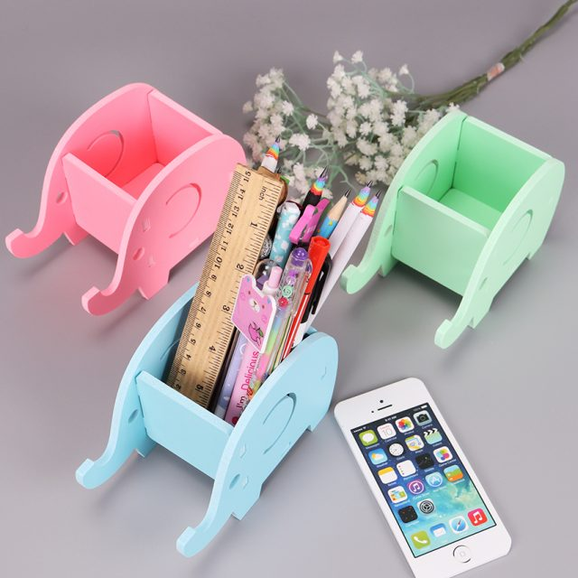 Creative Wooden Cute Multifunctional Pen Holder