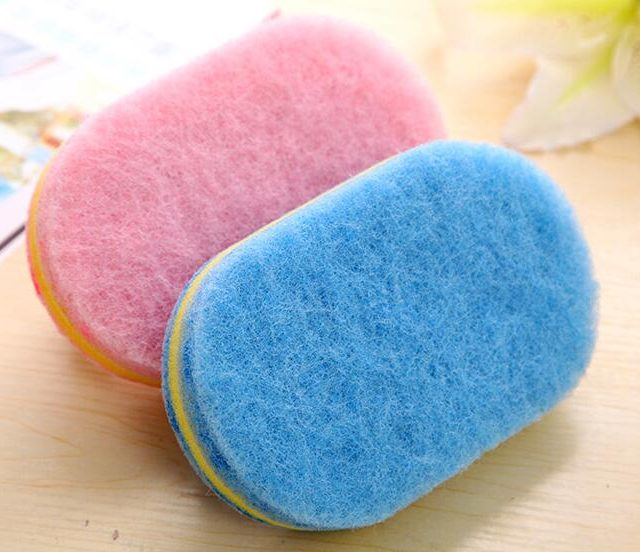 Sponge Brushes with Plastic Handle for Bathroom Cleaning