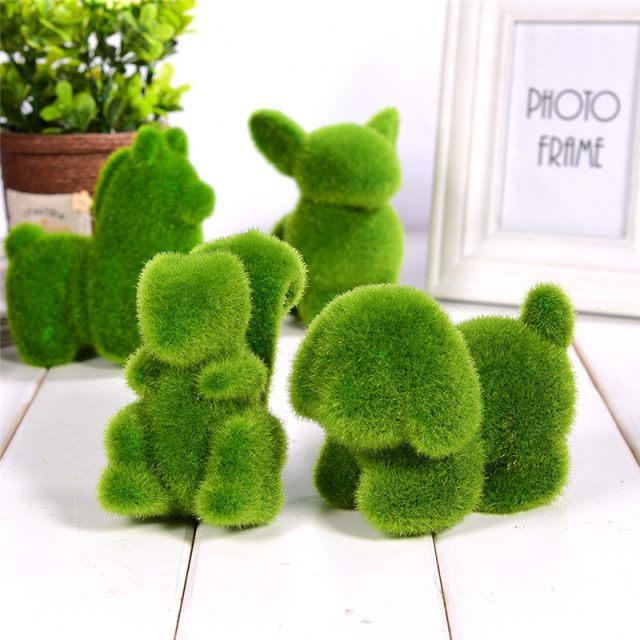 Green Grass Animals Garden Figurines