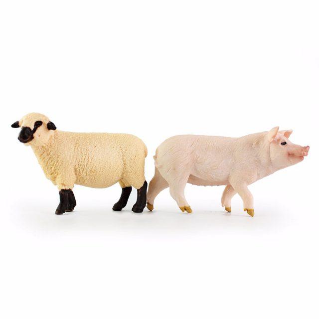 Pig and Sheep Garden Figurine