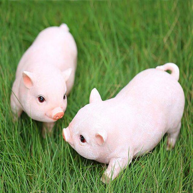 Cute Pig Garden Figurine