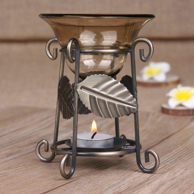 Creative Style Metal Curl Aroma Lamp