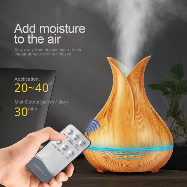 Wood Aroma Essential Oil Diffuser
