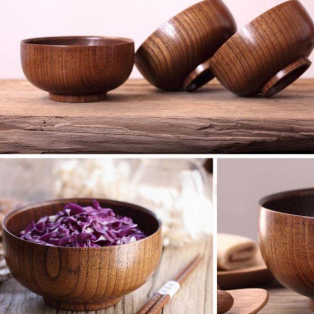 Natual Wooden Bowl