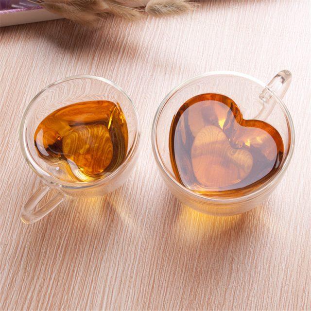 Heart Shaped Glass Mug