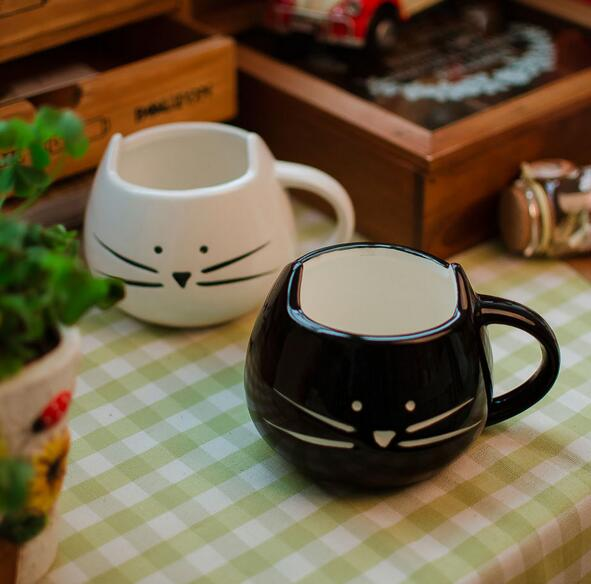 1Pcs Cute Cat Ceramic Mug