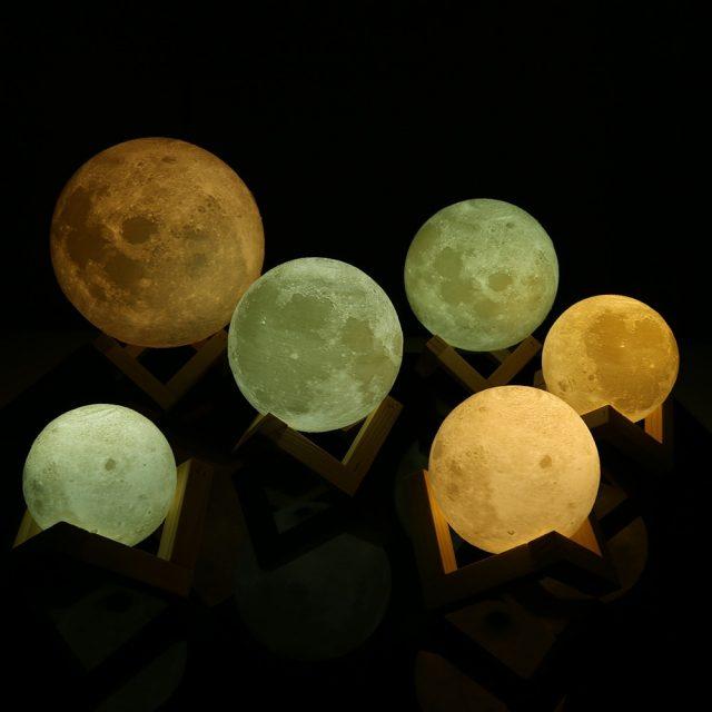 Moon Shaped LED Night Lamp