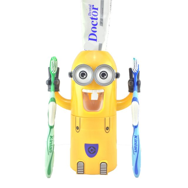 Minion Automatic Toothpaste Dispenser with Toothbrush Holder