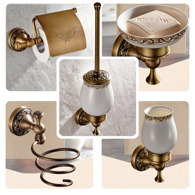 Vintage Elegant Brass Tap for Bathroom