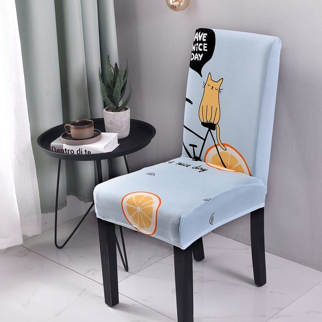 Elastic Fabric Printed Chair Cover